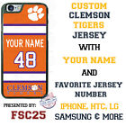 Clemson Tigers Football Jersey Personalized Phone Case for iPhone Samsung etc.
