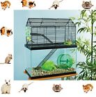 2 in 1 Cage home Animal High Rise Tank Toppe Rat Cute Chinchilla GuGuinea Pig