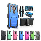 Motorola Moto G6 Play Shockproof Holster Belt Clip Stand Heavy Duty Phone Case