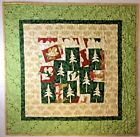 "Art Quilt Wall Hanging Forest Through the Tress 33"" x 33"" Handmade Quilted"