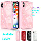 For iPhone Xs Max 6.5'' Shockproof Glass Back Ultra Thin Hybrid PC Case