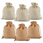 25 50 100 Wedding Hessian Burlap Jute Favour Gift Bags Jewelry Drawstring Pouch