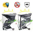 MummyWishes® Baby Stroller Awning Sunscreen Mosquito NetUV Multi-purpose Trolley