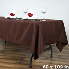 5 CHOCOLATE BROWN 60x102 RECTANGLE POLYESTER TABLECLOTHS Wedding Decorations
