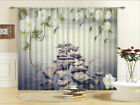 Rocks Shallow Surface 3D Curtains Blockout Photo Printing Curtains Drape Fabric