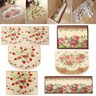Floor Rug Carpet Comfy Strawberry Rose Mat Bedroom Bathroom Kitchen Living Room