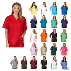 Внешний вид - Unisex Men/Women V-Neck Scrub Top Only Medical Hospital Nursing Uniform NEW