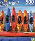 """Jigsaw Puzzle 500pc Row of Colorful Kayaks 18.25""""X11"""" NEW Puzzlebug #TY71"""