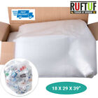 140G Large Clear Plastic Polythene Bin Liners Waste Bags Sacks Size 18