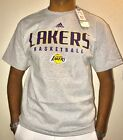 Mens Adidas Los Angeles Lakers T-Shirt Gray Authentic *CLEARANCE*
