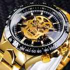 WINNER New Fashion Mechanical Watch Men Skull Design Top Brand Luxury Golden 00 image