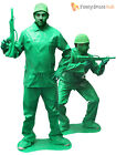 Mens Green Toy Soldier Costume Saving Private Ryan Fancy Dress Army Morphsuit