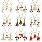 Wholesale Women Lady Christmas Theme Party Jewelry Set Necklace + Earrings