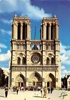 France Paris The Ntore Dame Cathedral Dom Front view