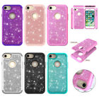 ShockProof  Silicone + Bling PC Cover Case for iPhone X XR XS Max 6 S 7 8 Plus