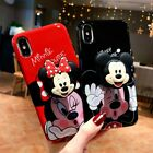For iPhone XS Max XR 6S 7 8+ Cute Mickey Minnie Case Cover & Airbag Stand Holder