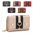 Ladies Designer Two Tone Panel Faux Leather Purse Wallet Handbag M095-351