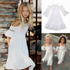 AU Summer Baby Kids Girls Princess Dress Lace Party Tutu Wedding Dresses Beach