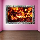 Fireplace Decorative Wall Stickers Mural Decal Home Living Dining Room Decor N7