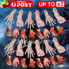 Hanging Bloody Hands Arms Halloween Horror Props Garland Banner Decoration AU