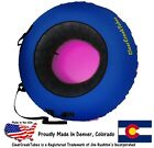 "Choose Your Own Color! ClearCreekTubes 44"" Inflated Snow Tube Combo Pink Bottom"
