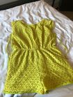 yellow playsuit Lace 12/16