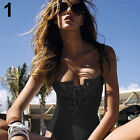 WOMEN'S SUMMER SEXY LACE UP FRONT ONE PIECE SWIMSUIT SWIMWEAR BATHING SUIT POUR
