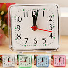 Table Alarm Clock Decoration Small Square Compact Travel Quartz Pink Portable