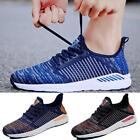 Casual Mens Breathable Gym Running Mesh Flyknit Shoes Athletic Sports Sneakers