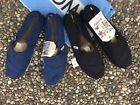 NWT Tom's Men's Classic Slip-on Flats Canvas Shoes 100% Authentic