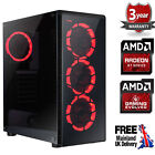 Ultra Fast Amd Dual Core Radeon Hd 8gb Ddr4 1tb Gaming Pc Computer Raider Red