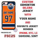 Edmonton Oilers Personalized Hockey Jersey Phone Case Cover for iPhone etc.