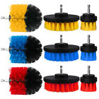 3pcs Cleaning Drill Brush Attachment Tile Grout Power Scrubber Tub Floor Cleaner