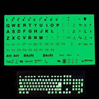 English Keyboard Fluorescent Sticker Large Black Letter for Computer Lapto Sz
