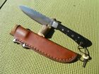 LIVELY KNIFE WORKS CUSTOM FIXED BLADE KNIFE W/SHEATH. HAND MADE IN THE USA!! EDC
