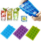 Silicone Large Ice Cube Mold Mould Tray Maker DIY Square 15 Grids Kitchen Bar