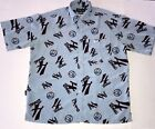 Vtg Vokal By Nelly Button Down Shirt Sz L All Over Print Rap Shirt Silky Smooth