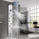 Stainless Steel Shower Panel Tower Rainfall Waterfall Massage Body System Jets1