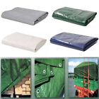 650GSM Tarpaulin Heavy Duty Builders Waterproof Ground Sheet Tarp Cover 2M~8M UK