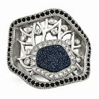 Chisel Stainless Steel Women's Polished Druzy and Crystal Fashion Ring image