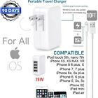 3,6,10ft USB Cable + 12W 15W 4-USB Cube Wall Charger For Apple iPad Pro,Air,Mini
