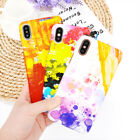 Watercolor painting PC hard shell phone case for iphone 6 7 8/plus  X XR XSmax