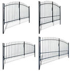 Vidaxl Dual Door Fence Gate Garden Entry Driveway Gates Arched Multi Sizes