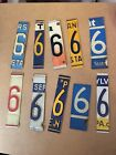 License plate Numbers For Signs/Arts & Crafts/Projects Lot Of 10 #6