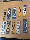 License plate Numbers For Signs/Arts & Crafts/Projects Lot Of 10 #9