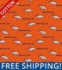 "Denver Broncos Emblem NFL Cotton Fabric 60"" Wide - Style# 14501-1 Free Shipping $10.95 USD on eBay"