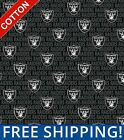 "Oakland Raiders Emblem NFL Cotton Fabric - 60"" W - Style# 14498 - Free Shipping! $10.95 USD on eBay"