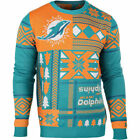 NFL Ugly Quirky Christmas Xmas Crew Neck Sweater New Miami Dolphins