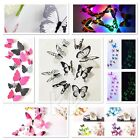 18/12 Led 3d  Butterfly Art Decal Home Decor Pvc Butterflies Wall Mural Stickers