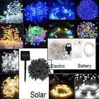 20-500 Led Fairy Lights Solar Battery Electric String Home Party Xmas Decoration